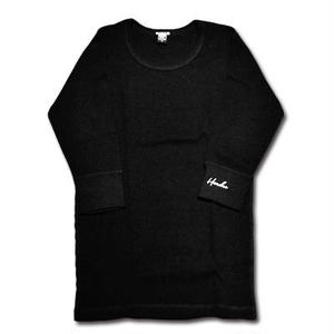 HARDEE 1/2 THERMAL TEE BLACK