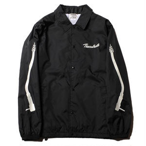 CUT RATE NYLON COACH JACKET BLACK CR-18SS001