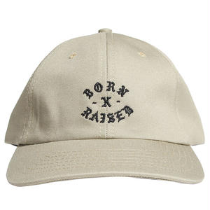 BORN X RAISED  ROCKER STRAPBACK KHAKI #33901