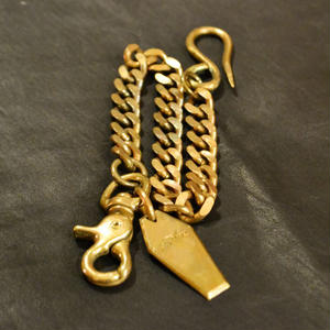 FLAT LINK WALLET CHAIN GOLD
