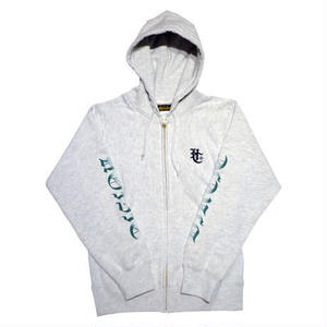 HARDEE BURN ZIP HOOD AUTOMEAL/GREEN