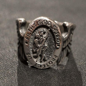 40% OFF ST.CHRISTOPHER RING SILVER[TPFV-AC06]