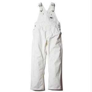 CUT RATE DENIM HERRINGBONE OVERALL WHITE CR-16ST051