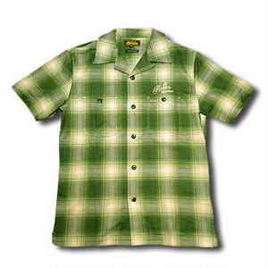 HARDEE SOUTH S/S CHECK SHIRT GREEN