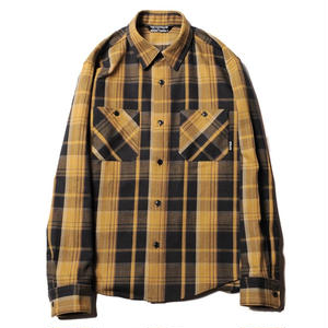 CUT RATE L/S CHECK SHIRT MUSTARD CR-18SS005