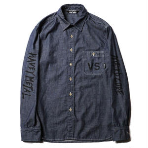 CUT RATE L/S VERSUS CHAMBRAY SHIRT INDIGO.BLUE CR-18SS015