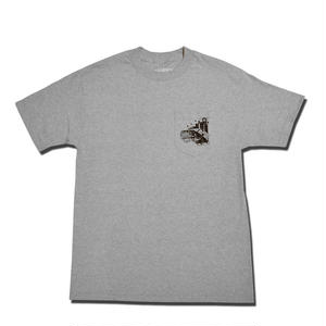 HARDEE RIDE WITH ME POCKET T-SHIRT GRAY