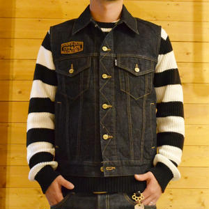 DENIM VEST INDIGO BLUE