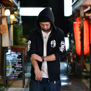 INSIDE ZIP HOOD BLACK