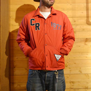 COTTON/NYLON CORCH JACKET RED