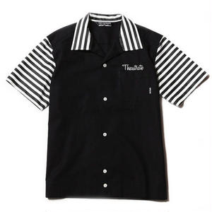 CUT RATE S/S BOWLING SHIRT BLACK CR-17SS050