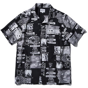 FUCT SSDD RENTAL ART ALOHA SHIRT BLACK #48203