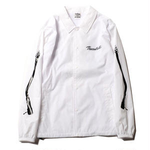 CUT RATE NYLON COACH JACKET WHITE CR-18SS001