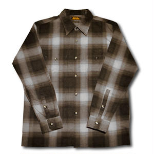 HARDEE OMBRE CHECK L/S SHIRT BLACK