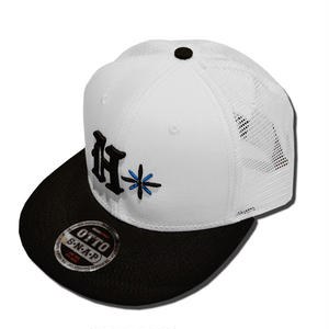 HARDEE  TRADE MARK MESH CAP WHITE&BLACK