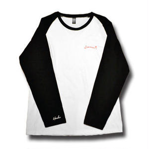 HARDEE SUBLIMINAL LONG SLEEVE TEE WHITE&BLACK