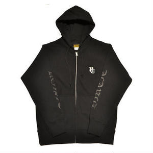 HARDEE BURN ZIP HOOD BLACK/BLACK