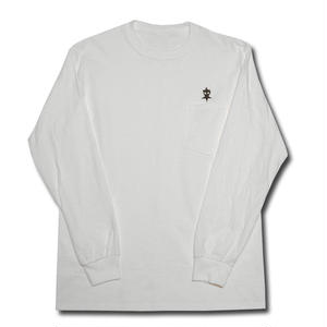 HARDEE UNSAFETY L/S POCKET T-SHIRT WHITE