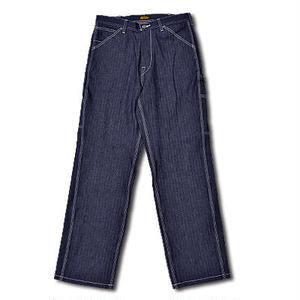 HARDEE HIGHEST HERRINGBONE PAINTER PANTS INDIGO
