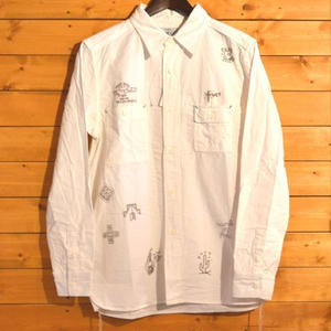 20%OFF FALLEN ANGELS CHAMBRAY SHIRT WHITE[#9308]