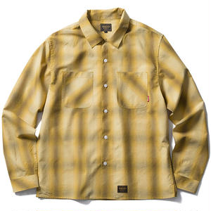 FUCT SSDD OMBRE CHECK SHIRT YELLOW