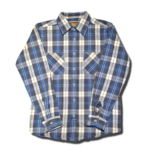 CAMCO HEAVY FLANNEL SHIRT LIGHT BLUE