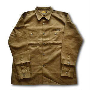 HARDEE BUILDUP L/S WORK SHIRT OLIVE