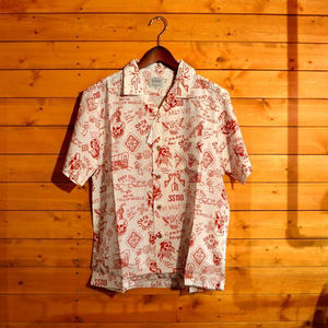 20%OFF SAFE AT HOME ALOHA SHIRT RED[#9311]