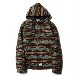 CUT RATE NATIVE BORDER HOODED JACKET BLACK CR-17AW044