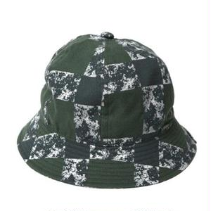 CUTRATE PRINT CHECK METLO HAT GREEN CR-16S033