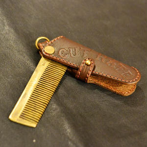 LEATHER COMB BROWN