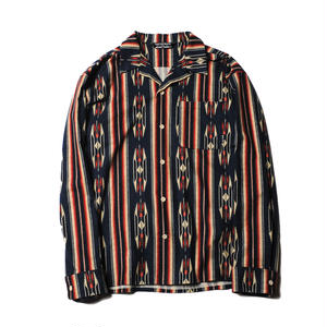 CUTRATE NATIVE PATTERN STRIPE L/S SHIRT