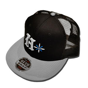 HARDEE  TRADE MARK MESH CAP BLACK&GRAY