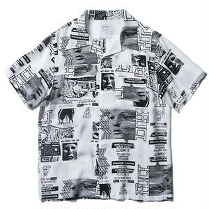FUCT SSDD RENTAL ART ALOHA SHIRT WHITE #48203