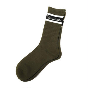 CUT RATE LINE SOCKS OLIVE  CR-17AW009