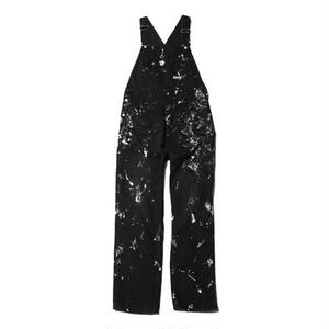 CUT RATE USED PAINTING DENIM OVERALL BLACK CR-17AW023