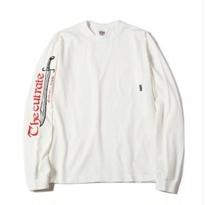 CUT RATE L/S T-SHIRT WHITE CR-16AW003