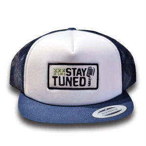 STAY TUNED CAP NAVY[MAD TUNED]
