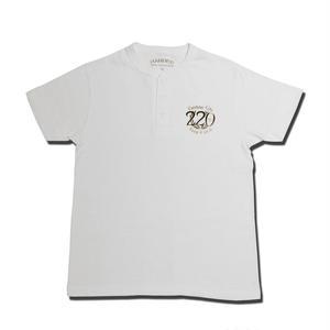 HARDEE 220 HENLEY T-SHIRT WHITE