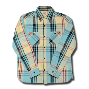 HOUSTON VIYELLA WORK SHIRT LIGHT BLUE