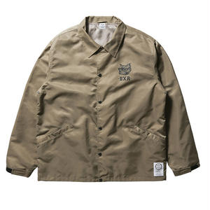BORN X RAISED  BOARDWALK SHARK COACHES JACKET KAHKI #34002