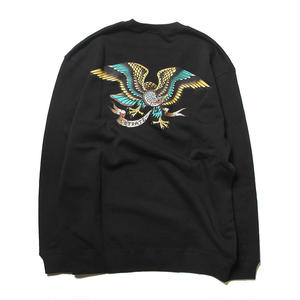 CUTRATE EAGLE CREW SWEAT BLACK