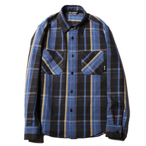 CUT RATE L/S CHECK SHIRT BLUE CR-18SS005