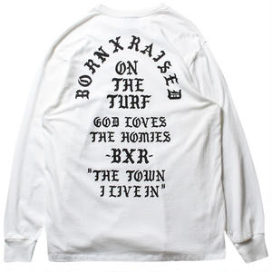 BORN X RAISED THE TOWN L/S T-SHIRT WHITE