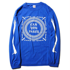 CUT RATE CAN YOU PARTY L/S T-SHIRT BLUE CR-18SS003