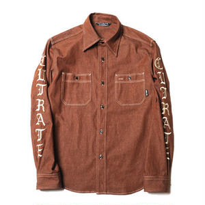 CUT RATE  L/S DENIM SHIRT BROWN CR-17AW028