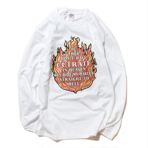 CUTRATE FLAME L/S T-SHIRT WHITE