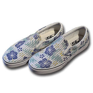 VANS CLASSIC SLIP-ON ALOHA-STRIPES TR.BLUE&TR.WHITE VN0003Z4I9J