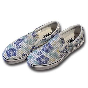 VANS CLASSIC SLIP-ON ALOHA-STRIPES TR.BLUE&TR.WHITE VN0003Z4I9J