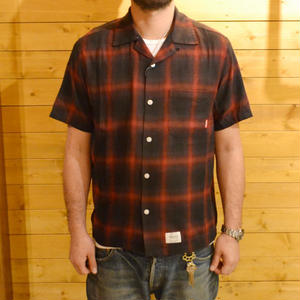 OMBRE CHECK S/S SHIRT RED[#4305]